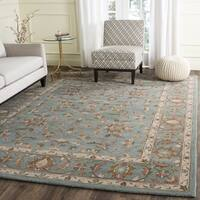 Safavieh Handmade Heritage Timeless Traditional Blue Wool Rug - 4' x 6'