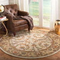 Safavieh Handmade Heritage Timeless Traditional Beige/ Gold Wool Rug - 6' x 6' Round