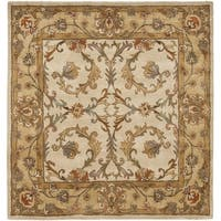 Safavieh Handmade Heritage Timeless Traditional Beige/ Gold Wool Rug - 6' x 6' Square