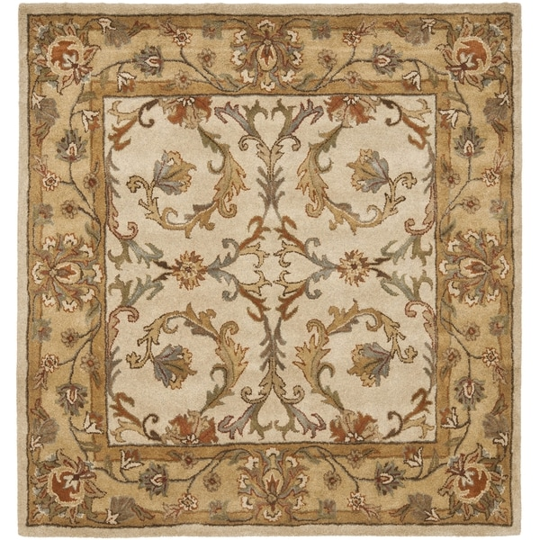 Safavieh Handmade Heritage Timeless Traditional Beige/ Gold Wool Rug (6' Square)