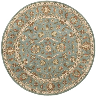 Safavieh Handmade Heritage Timeless Traditional Blue Wool Rug (6' Round)