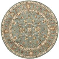 Safavieh Handmade Heritage Timeless Traditional Blue Wool Rug (6' Round)