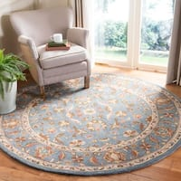 Safavieh Handmade Heritage Timeless Traditional Blue Wool Rug - 6' x 6' Round
