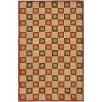 Safavieh Handmade New Zealand Checkers Beige/ Rust Rug - 9' x 12'