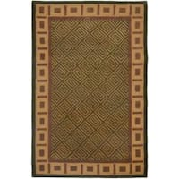 Safavieh Handmade Passage Green Wool Rug - 5' x 8'