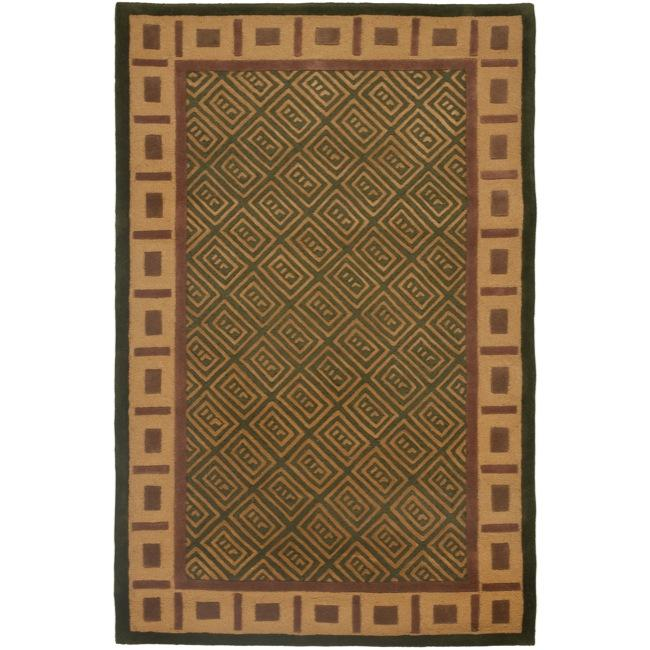 Safavieh Handmade Passage Green Wool Rug - 8' x 10'