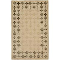 Safavieh Handmade New Zealand Wool Diamonds Beige Rug - 8' x 10'
