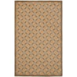Safavieh Handmade Trellis Sage Wool Rug - 7'6 x 9'6 - Thumbnail 0