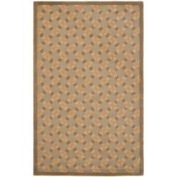 Safavieh Handmade Trellis Sage Wool Rug (4' x 6')