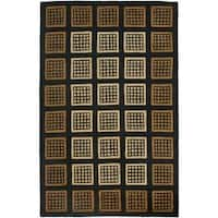 Safavieh Handmade Blocks Black Wool Rug - 7'6 x 9'6