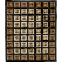 Safavieh Handmade Blocks Black Wool Rug - 8' x 10'