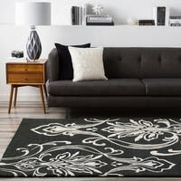 Hand-tufted Tyler Damask Pattern Wool Area Rug - 5' x 8'