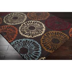 Hand-tufted Contemporary Devon Wool Abstract Rug (8' x 11') - Thumbnail 1