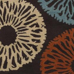 Hand-tufted Contemporary Devon Wool Abstract Rug (8' x 11') - Thumbnail 2