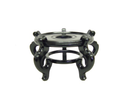 Black 3.5-inch Wood Fishbowl Stand
