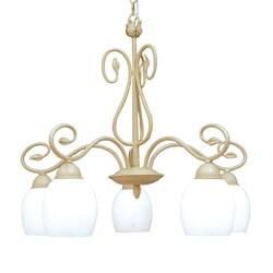 Woodbridge Lighting Champlaign 5-light Washed Gold Downward Chandelier