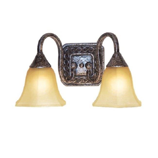 Woodbridge Lighting 2-light Antique Silver Bath Sconce