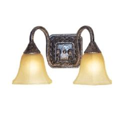 Woodbridge Lighting 2-light Antique Silver Bath Sconce