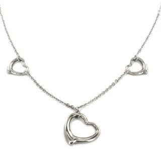 ELYA Stainless Steel Three Hearts Necklace