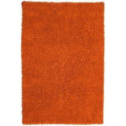 Hand-woven Shagadelic Copper Chenille Rug (2'6 x 4'2)