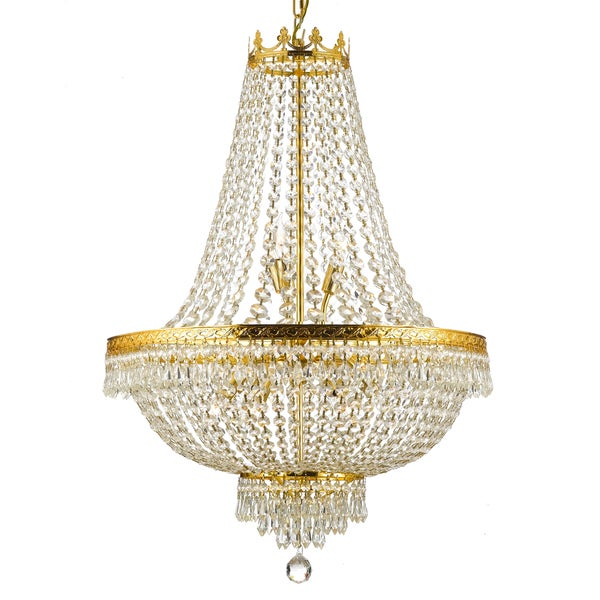 Gallery empire crystal 9 light chandelier free shipping today gallery empire crystal 9 light chandelier aloadofball Choice Image