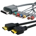 INSTEN 2-piece HDMI Cable/ Component HD AV Cable for Xbox 360 Slim