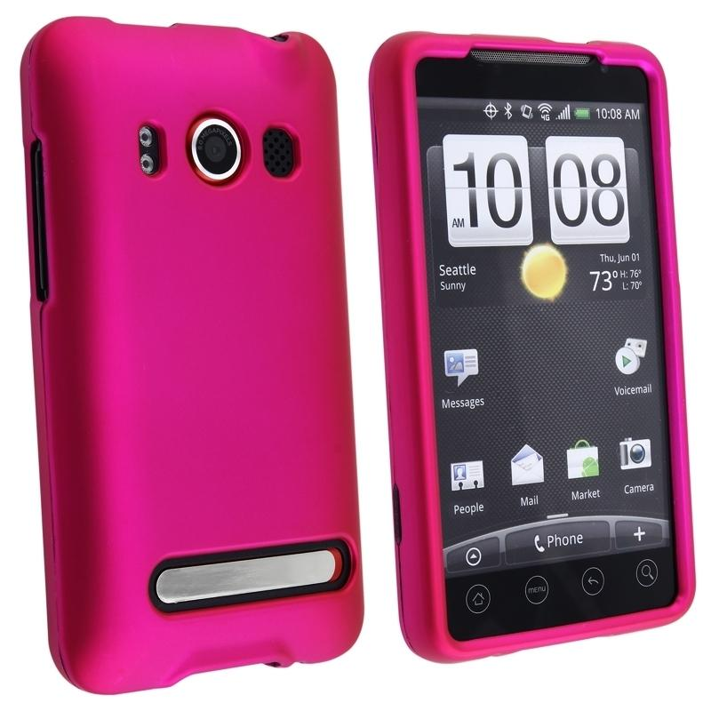 8-piece Rubber Cases/ Screen Protectors Set for HTC EVO 4G