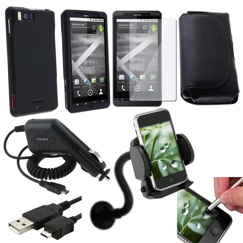 7-piece Case/ Charger/ PDA Holder/ Accessories for Motorola Droid X/ Droid X2 Daytona