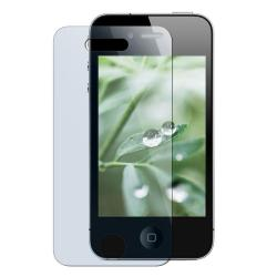 Rubber-Coated Light Green Case/Screen Protector for Apple iPhone 4 - Thumbnail 2
