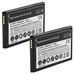INSTEN Li-ion Battery for HTC EVO 4G (Pack of 2) - Thumbnail 1