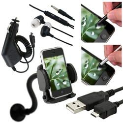 6-piece Charger/ Holder/ Headset/ Screen Protector for HTC Inspire 4G
