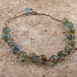 Handmade Glass Marble 'The Colors of Glass' Necklace (India)