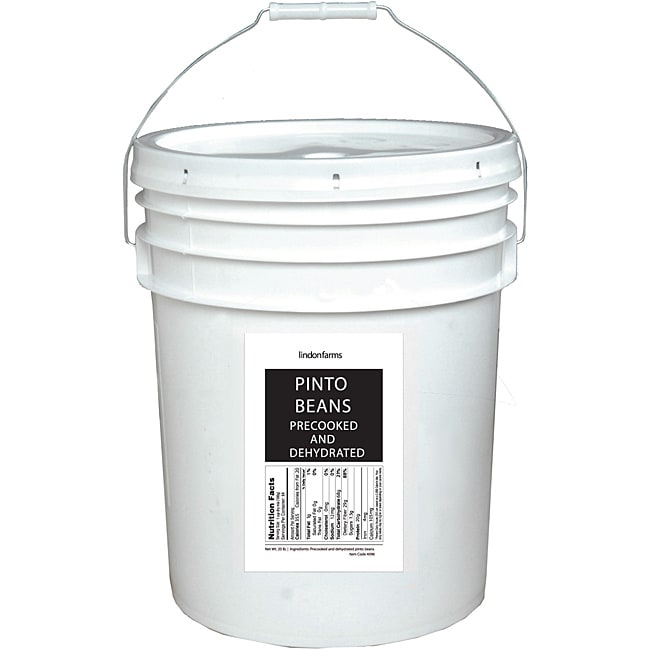 Lindon Farms 5-gallon Pail Dehydrated Pinto Beans