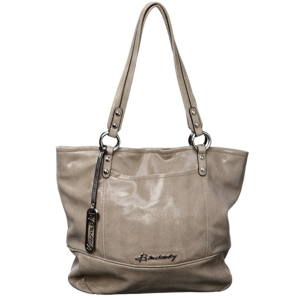 B Makowsky Margene Leather Tote Bag