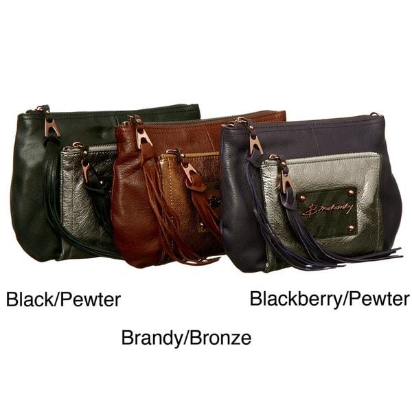 B Makowsky Rochelle Top Zip Crossbody Bag