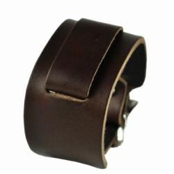 Nemesis Women's Thin Cuff Brown Watch Band