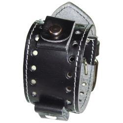 Nemesis Black Stitch Medium Watch Band