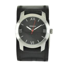 Nemesis Elite Black Leather Cuff Watch