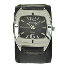 Nemesis Retro Black Cuff Watch