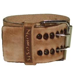 Nemesis Faded X Brown Leather Watch Band - Thumbnail 1