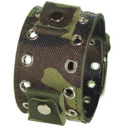 Nemesis Camouflage Eyelet Canvas Watch Band