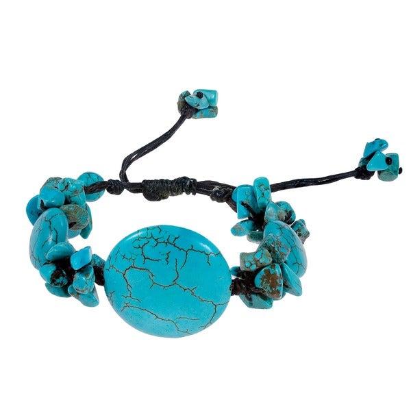 Handmade Cotton Rope Medallion Cluster Pull Bracelet (Thailand)