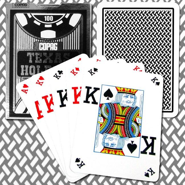 Copag Poker Size Jumbo Index Peek Style Playing Cards (Set of 2)