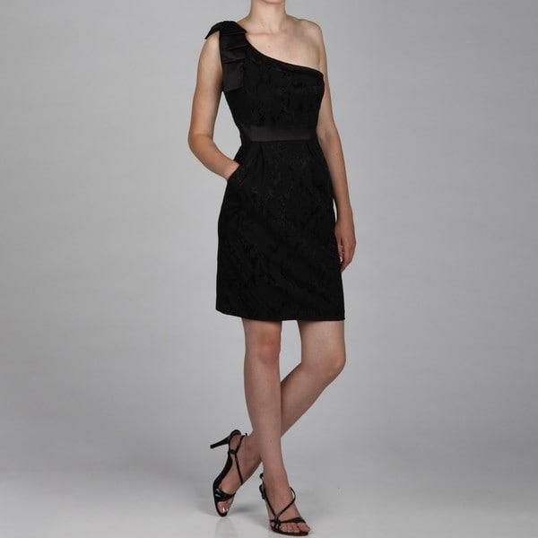 Jessica Simpson Women's One-shoulder Bow Dress FINAL SALE