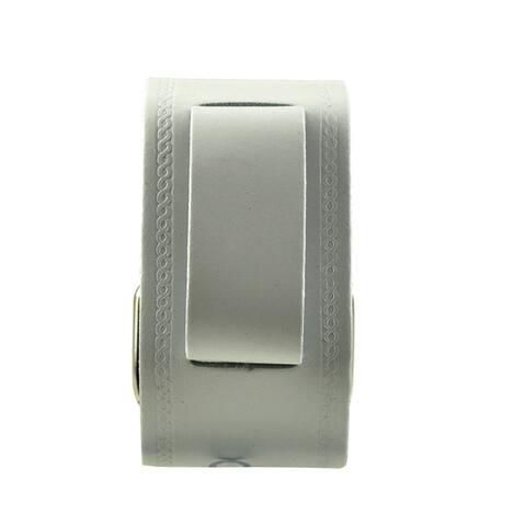 Nemesis Medium Embossed Strip White Watch Band
