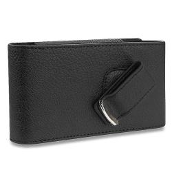 INSTEN Black Leather Phone Case Cover with Magnetic Top Flap