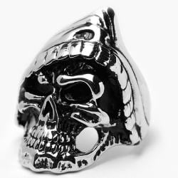 Oliveti High Polish Stainless Steel Men's Cast Skull Ring
