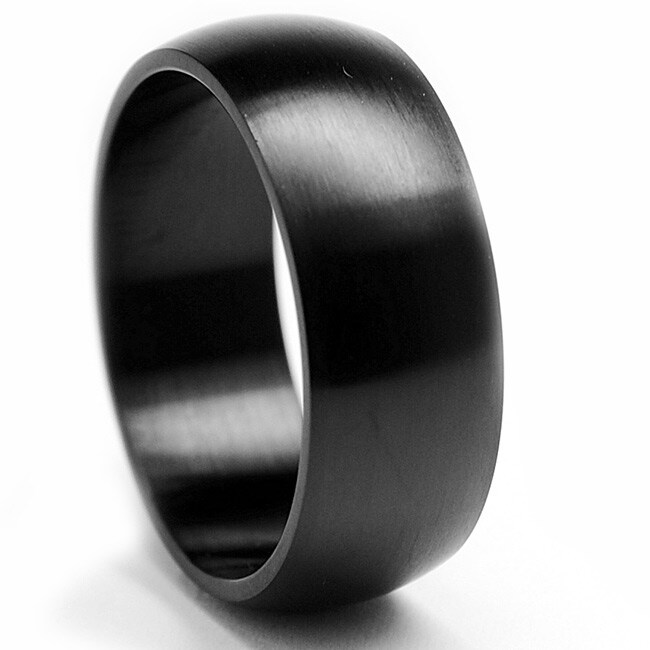 Oliveti Black-plated Stainless Steel Brushed Band