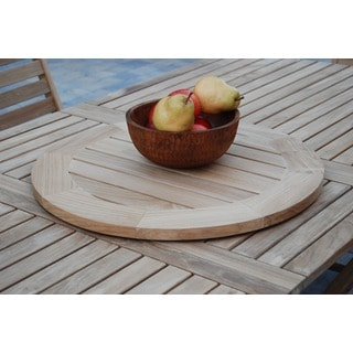Natural Teak 21-inch Lazy Susan