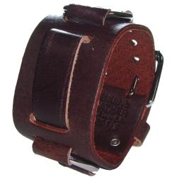Nemesis Ring Brown Leather Band